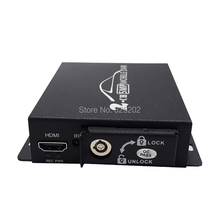 The Latest Style  Mini AHD Recorder 2CH Mobile DVR Support Double SD Card with HDMI interface