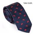 Sastre Smith Mens Fashion Designer Tie Paisley Jacquard de Microfibra Lazo Delgado de Alta Calidad Casual de Negocios Vestido de la Corbata