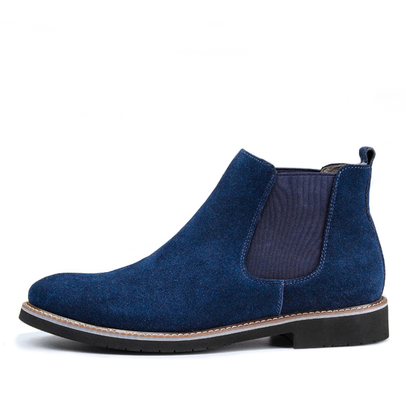 674f55fe6a834 ZERO MORE Chelsea Mens Boots Short Plush Winter Shoes Men Slip On Split  Leather Ankle Boots Men Cow Suede Round Toe Men Boots -in Basic Boots from  Shoes on ...