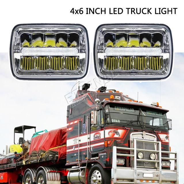 Envío gratis 4x6 LED faro 45W camión faro H4 led kit H4651/H4652/H4656/H4666/H654 camiones de servicio pesado remolque transporte