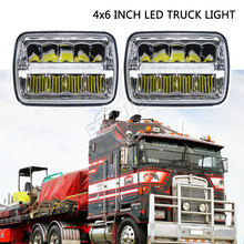 free ship 4x6 LED headlight 45W truck headlamp H4 led kit H4651/H4652/H4656/H4666/H654 heavy duty trucks trailer transportation