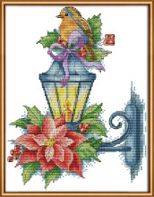 The bird on the lamp cross stitch kit aida 14ct 11ct count print canvas stitches embroidery DIY handmade(China)
