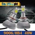 40 Вт 9006 HB4 4000LM СВЕТОДИОДНЫЕ Лампы Фар COB Белый Преобразования Фар Автомобиля Противотуманные фары Дневные Ходовые Огни DRL 1 Пара