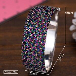Image 5 - GODKI Breiten Großen Luxus Stapelbar Erklärung Armband Für Frauen Hochzeit Voller Cubic Zirkon Kristall CZ Dubai Armbänder 2019