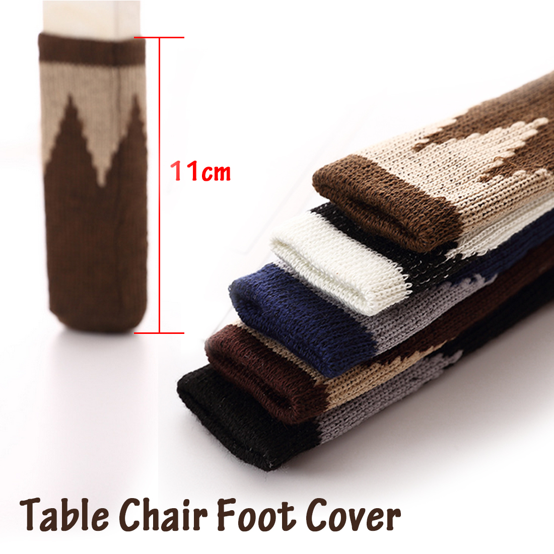 4Pcs Top Double Layers Type Thickened Knitting Chair Leg Floor Protectors Furniture Leg Cap Chair Antiskid Leg Socks Foot Strap
