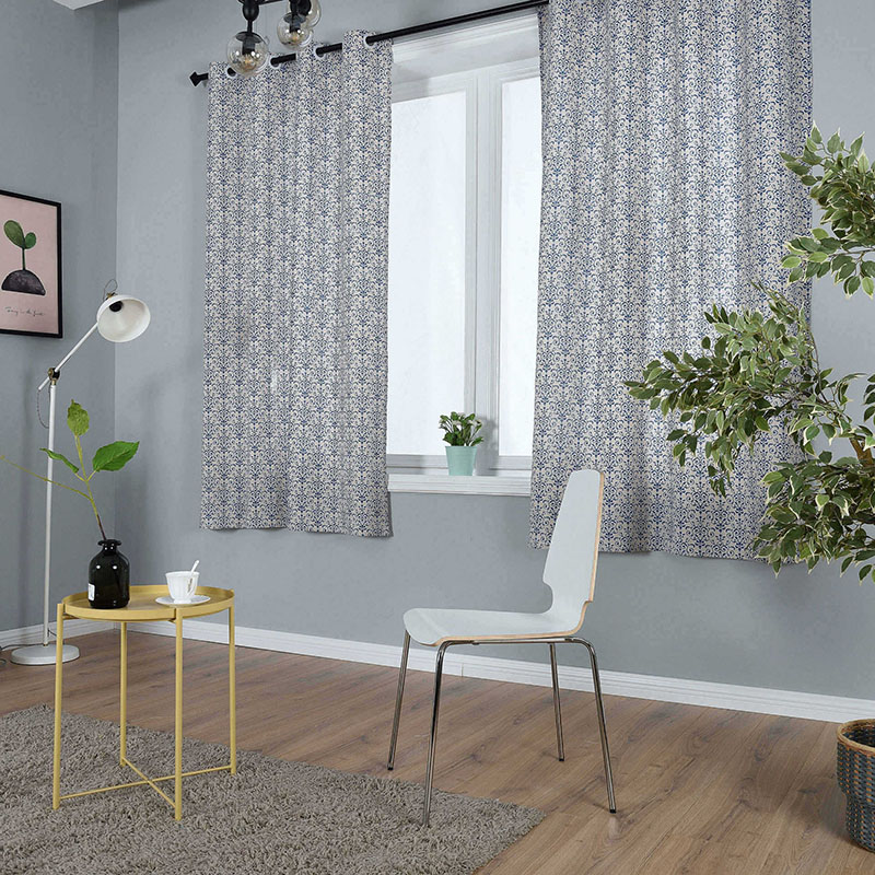 Image 4 - Modern Countryside Print Window Treatment Curtain Cotton Solid for Livingroom Bedroom Hotel Home Deco Blackout Curtain cortinas-in Curtains from Home & Garden