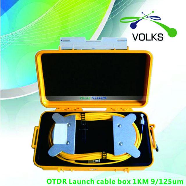 Otdr lançamento caixa de cabo 1 KM 9 / 125um 1310 / 1550nm frete grátis