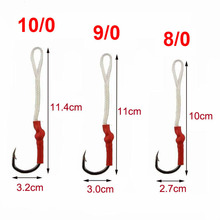 JSM 100pcs/lot Stainless Steel Fishing Hook With PE Line for jigging lure Assist Fish hooks Carp Fishing tackle size 1/0-10/0