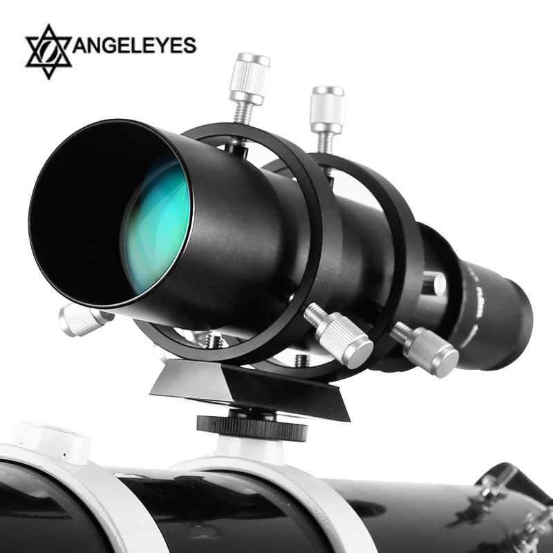Angeleyes 50mm/60mm Hướng Dẫn Phạm Vi Tráng Phủ Hoàn Toàn Guidescope Tìm Thị Kính có Giá Đỡ 1.25 Kính Thiên Văn phụ kiện