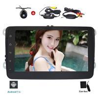Free Wireless Rear Camera 2 Din 8 Inch Car Stereo Radio GPS Nav WIFI FM AM