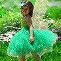 Tinkerbel menina verde magia de fadas temas de aniversário vestido da menina - up jogar férias photoshot de fadas menina Tutu vestidos para festa PT72