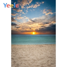 Yeele Landscape Sunset Seaside Beach Posters Scene Photography Backgrounds Seamless Photographic Backdrop Props For Photo Studio