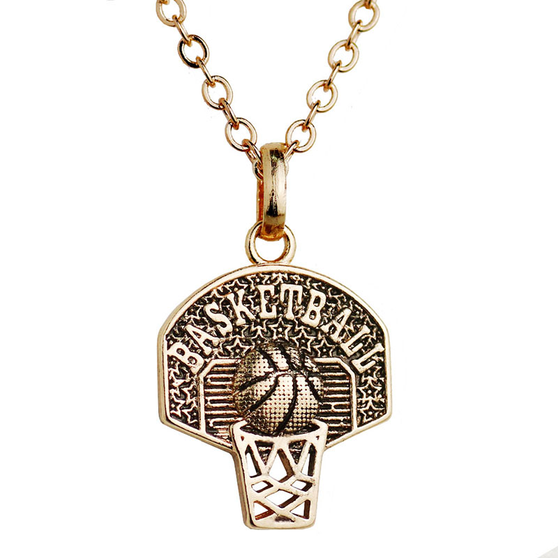 Sport Pendant Necklace Basketball Hoop Charm Necklace Personalized Basketball Necklace Women Basketball Jewelry