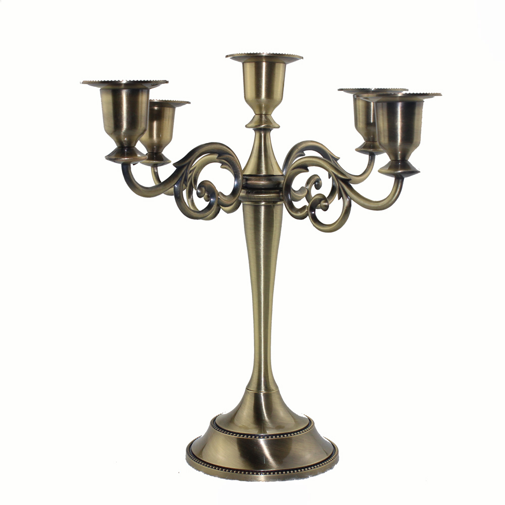 New 5 Arms Candelabra Taper Candle Holders Chandeliers Wedding Centerpieces Silver Gold Bronze Holder In From Home Garden On