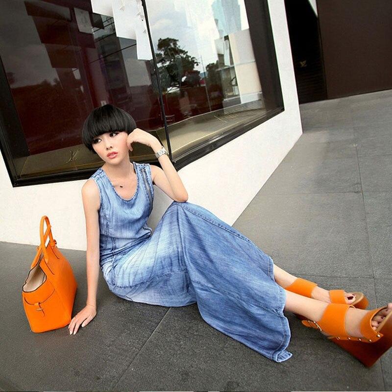 Maxi denim summer dresses