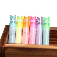 6pcs Highlighter Pens Cute Ninja Permanent Markers Fine Point Tip Novelty Stationery Assorted Colours