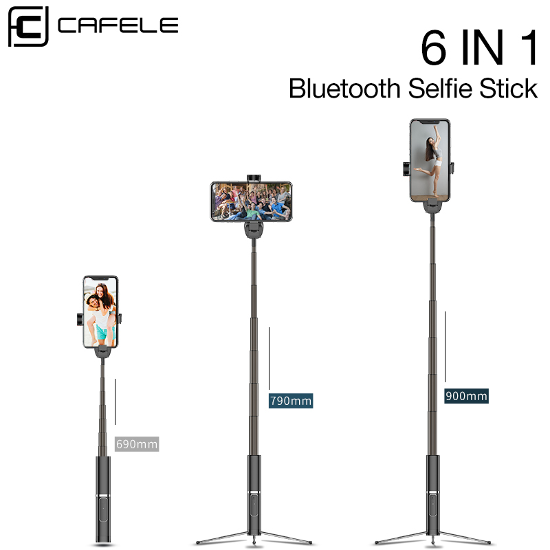 CAFELE Bluetooth Selfie Stick Portable Handheld Smart Phone Camera Tripod With Wireless Remote For IPhone Samsung Huawei Xiaomi
