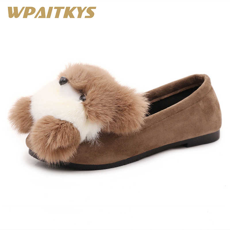 2018 Exquisite Lovely Women's Flat Shoes Black Brown Gray Three Colors Available Dog Accessories Decoration Casual Shoes Woman