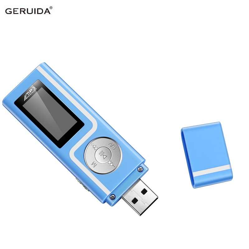 GERUIDA Mp3 Player Faster Charge USB MP3 Mini Music Player Also U Disk 2G/4G/8G With FM Recording E-Book OTG Lanyard
