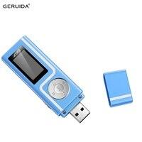 GERUIDA Mp3-speler Sneller Lading USB MP3 Mini Muziekspeler Ook U Disk 2G/4G/8G Met FM Recording E-Book OTG Lanyard