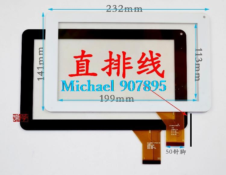 Free Shipping CZY6366A01-Fpc MF-289-090F 9inchtouch Screen Digitizer Handwritten For Q9 Tablet Pc MF-289-090F 50Pin