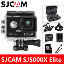 SJCAM SJ5000X Elite Action Kamera 4 Karat WiFi Sport DV Tauchen 30 Mt wasserdichte 1080 P HD NTK96660 Gyro 2,0 Bildschirm Original SJ CAM 5000
