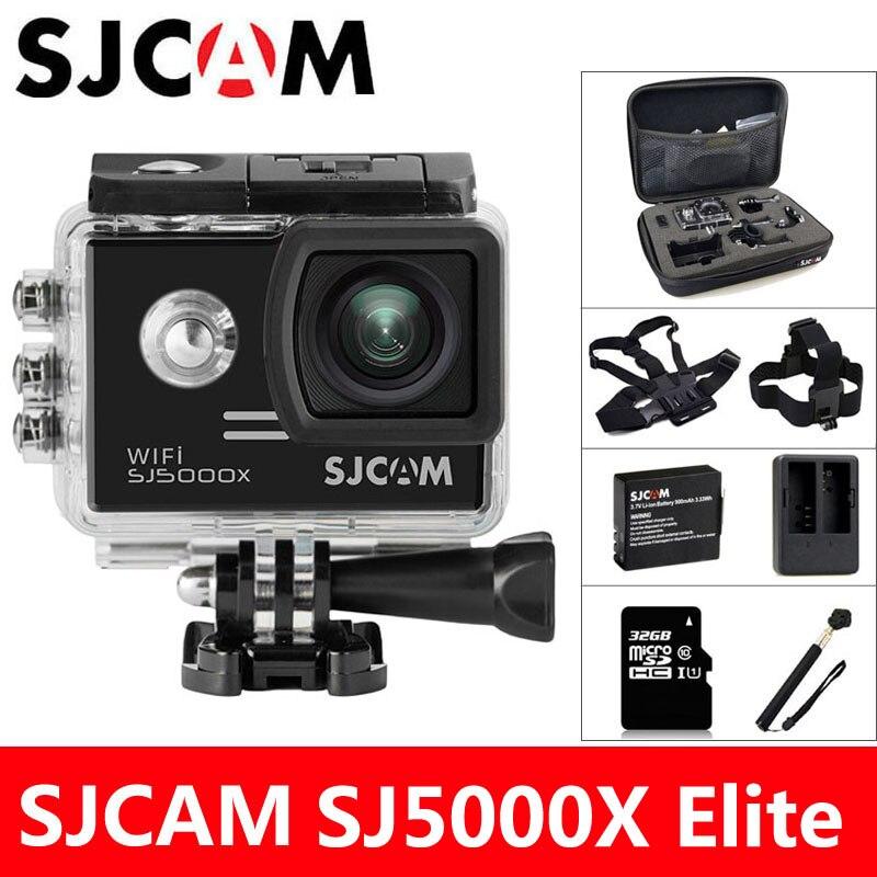 SJCAM SJ5000X Elite D'action Caméra 4 k WiFi Sport DV Plongée 30 m Étanche 1080 p HD NTK96660 Gyro 2.0 écran D'origine SJ CAM 5000