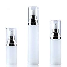 1pcs Skin care bottle 15ML/20ML/30ML/50ML Korean version vacuum White dull polish Cosmetic bottles wholesale BQ262