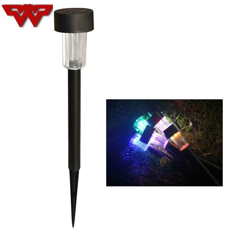 WOOTOP Waterproof LED Outdoor Garden Light Lighting Sensor Solar Powered Landscape Yard Lawn Path Lamp RGB/W/R/G/B