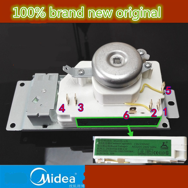 New authentic  microwave oven timer WLD35 1/S  WLD35 2/S  for  midea Spare parts microwave  timer for electronic microwave oven