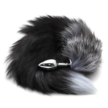 Plug Stainless Steel Faux Fox Tail Toy