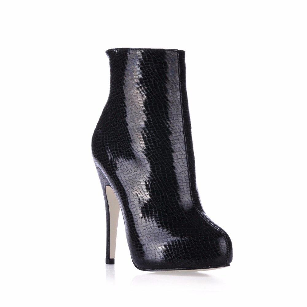 2019 Serpiente Tacones Patente 91038 Delgada Mujer De Para Botas Zapatos Cuero Damas 1 La Sexy Tobillo Mujeres 0W40nqwrX