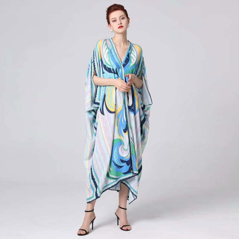 Long Dress Irregular High Quality New Women Fashion Party Sexy Boho Beach Vintage Elegant Chic Sunscreen