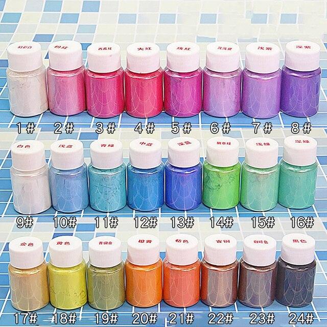 10g Slime Supplies Decoration Pearl Powder Filler Art DIY Lizuny Powder Coloring Pigment Crystal Clay Mica Slime Glitter Powder