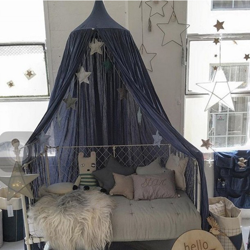 240cm kids mosquito net photography props baby room decoration bed canopy curtain baby tent crib folding tent bed moustiquaire in mosquito net from home - Gray Canopy Decoration
