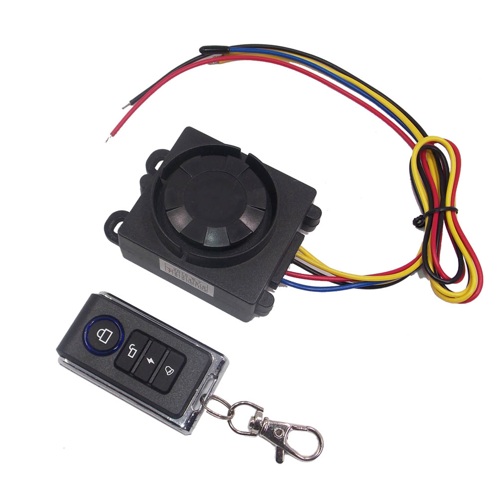 Motorcycle Security Alarm Scooter Alarm Speaker Motorbike Alarm 12V Anti-Theft Audio System Motor Remote Control Ringing Alarm