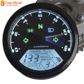 New Universal 12000RMP LCD Speedometer Odometer Tachometer 1-4 Cylinders Motorcycle Digital Gauge Waterproof Hours Minutes