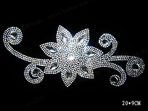 2pc lot Golden flower iron on transfer design hot fix rhinestone motif  designs hot fix iron on crystal transfers designUSD 6.30 lot ... b8b40bf1aa7f