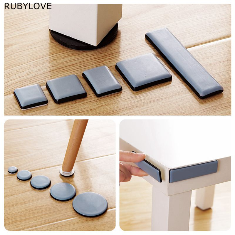 1 Set Slider Pad Furniture Table Bases Protector Coaster Carpet Ground Magic Moving Anti-abrasion Floor Mat SYT9252