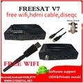 Freesat V7 5 pcs powervu + free wifi Youtube newcam DVB-S2 1080 p ccam livre vídeo set top box FREESAT V7 Receptor de Satélite