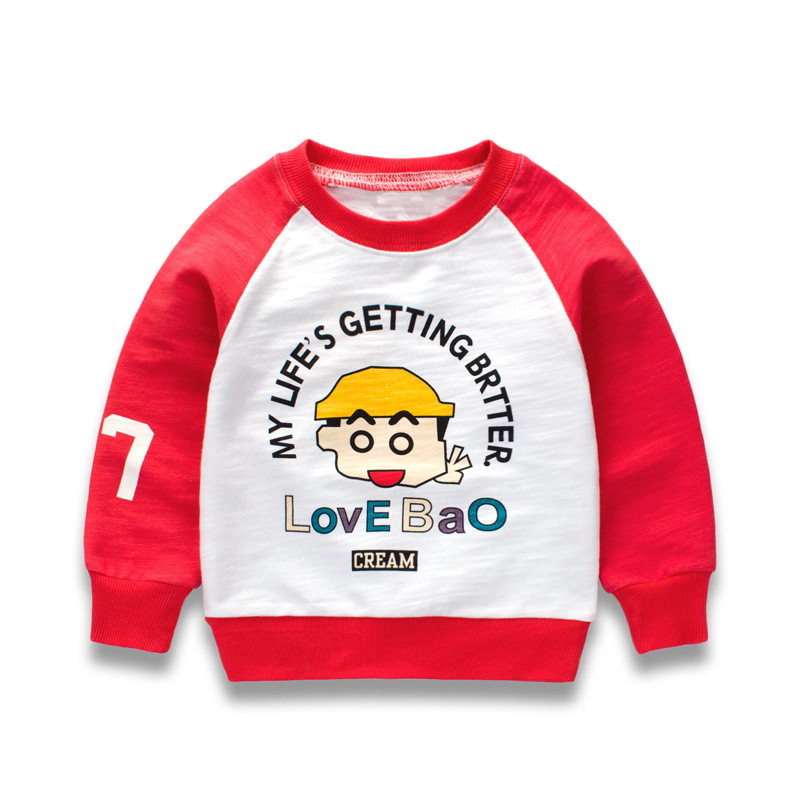 2017 Autumn Children T-shirt Boys Clothes Baby Boys Tops Tees Cartoon Print Kids Long Sleeve Funny Sweatshirt Boys T shirts