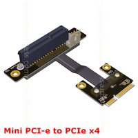 Mini PCIe MPCIe WiFi Wireless Network Card Interface Extension Cable To 4 PCI E X4 4x