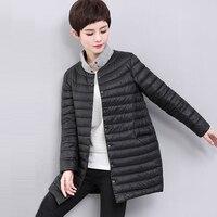 Легкий тонкий Подпушка пальто Для женщин длинные Куртка–пуховик на 90% белом утином пуху свободные Мужские парки осень зимняя куртка пухови