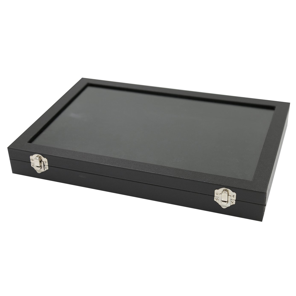 100 Slot Ring Display Case Organizer Top Jewelry Storage Box Tray Holder