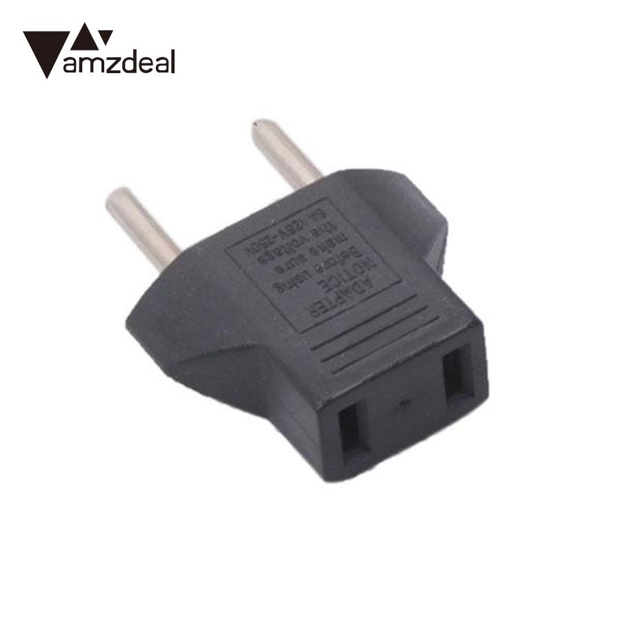 amzdeal 250V 10A Travel Adaptor Plug Charger Converter US USA to EU EURO Standard Adapter Small and light weight