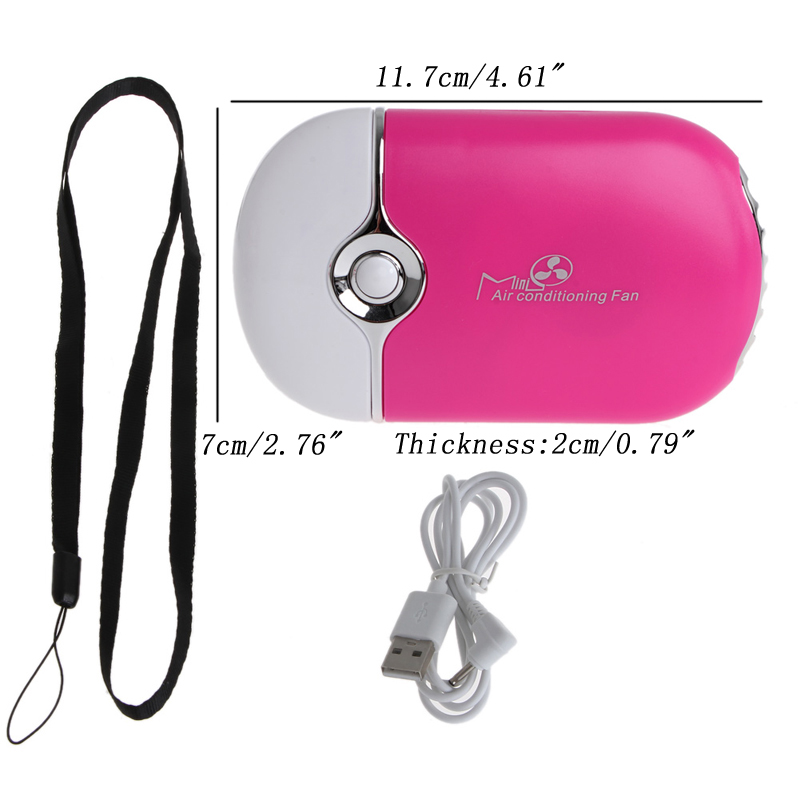 Mini Portable Hand Held Desk Air Conditioner Humidification Cooling Fan Cooler