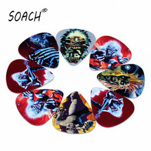 SOACH 10pcs Newest  Guitar Picks Thickness 1.0mm acoustic guitar paddle Selling Iron Maiden Guitar pick Accessories
