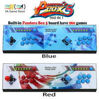 Pandora S Box 5 960 In 1 Red Blue Stickers Arcade Console 2 Players Pandora Box