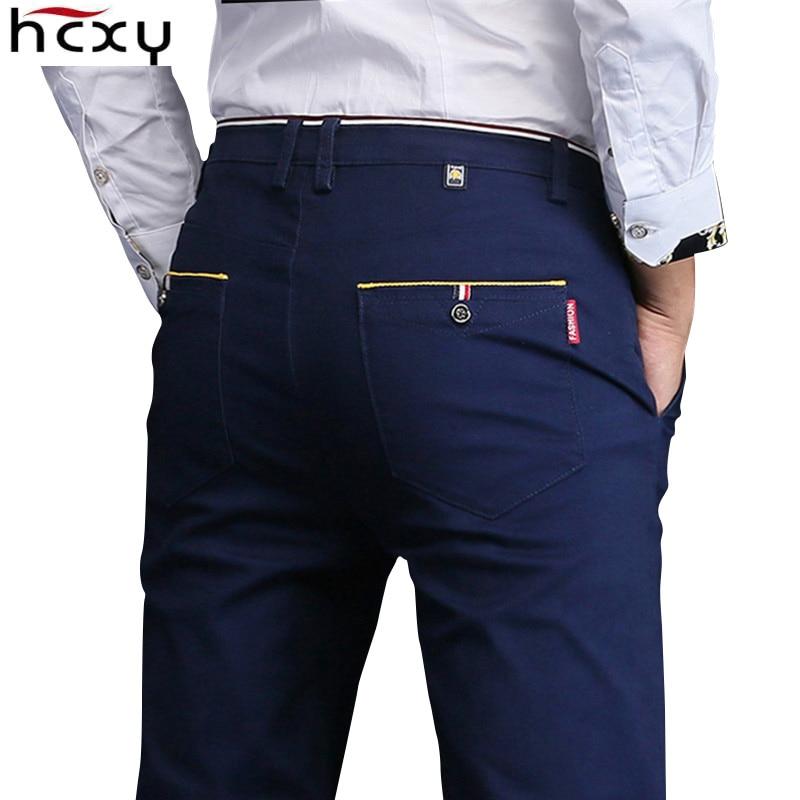 2018 новые модные Для мужчин S Повседневные штаны для мужчин высокого качества брендовые Брюки для девочек мужской Костюмы хлопок формальные Мотобрюки Для мужчин размер 36 38