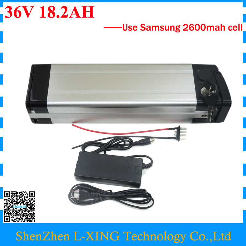 Free customs fee 500W 36V 18.2AH Battery 36 V silver fish battery 18AH lithium battery use Samsung 2600mah cell with 2A Charger free customs duty 36v 28ah battery pack 1500w 36 v lithium battery 28ah use samsung 3500mah cell 50a bms with 2a charger